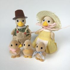 Vintage Sylvanian Families Tomy Puffleford Duck Family RARE & Highly Collectible | eBay
