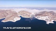 Snow-covered Plastira Lake