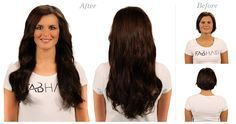 Before N After #2 Dark Brown      #hairextensions#remy#hair#hairstyles#clip-ins#premium#quality#fabhair#nyc#virginhair#utip#tape#weft#weave#fusion#styling#fashion#beauty#,model#clipin