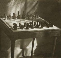 Man Ray: Chess Set, c. 1942-43.