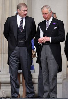 Strained: The relationship between Prince Charles and his brother, Prince Andrew, hasn't always been the easiest.