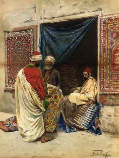 """Giulio Rosati """"The carpet merchant"""""""