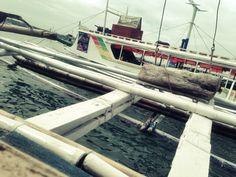 Docked boats in Caticlan headed to Boracay Island