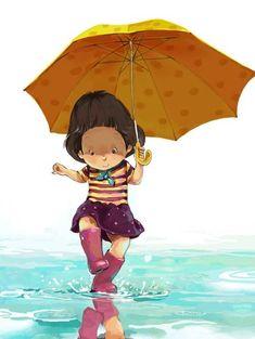 Y así me siento cuando salto en los charcos, como una niña soñadora, curiosa, poderosa y feliz LJ