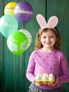 Easy Easter Brunch Ideas: Easter Egg Balloons and Bunny Ears