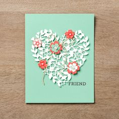 The Bloomin' Love stamp set and thinlit bundle work together so well to make gorgeous cards that are perfect for your Valentine.