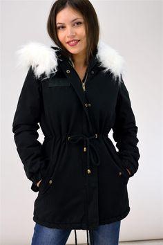 Παρκά με γούνινη επένδυση - ΓΥΝΑΙΚΕΙΑ-ΜΠΟΥΦΑΝ | POTRE Parka, Raincoat, Jackets, Fashion, Rain Jacket, Down Jackets, Moda, Fashion Styles, Parkas
