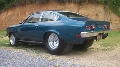 '72 Chevy Vega.  I had one of these in '72, but it never looked like this. A 215 ci aluminim Olds engine helped it out though in 1973.