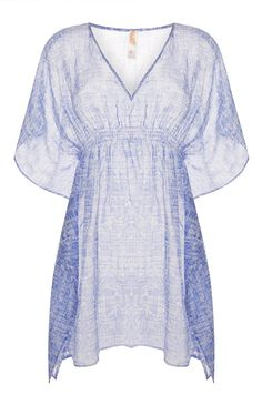 Primark - Blue Printed Cover Up Primark, Summer Wardrobe, Cover Up, Bell Sleeve Top, Jumpsuit, Tunic Tops, Black And White, Printed, Thailand