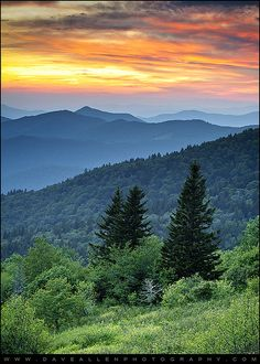 Blue Ridge Parkway WNC - Fire in the Mountains by Dave Allen Photography, via Flickr