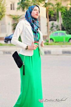 Hijab style ❤ hijab style.   I love the colors