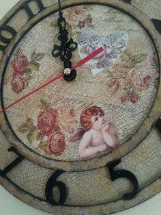 Decoupage, Clock, Wall, Diy, Home Decor, Watch, Decoration Home, Bricolage, Room Decor