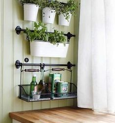 Details about IKEA 22 rail 10 hooks 3 cutlery caddy pot 3 artificial plants herb FINTORP Kitchen Herbs, Herb Garden In Kitchen, Diy Kitchen, Herbs Garden, Kitchen Ideas, Kitchen Small, Small Kitchens, Kitchen Sink, Small Bathrooms