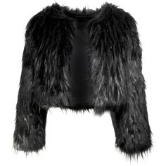 Disturbia Gothic Fur Jacket ❤ liked on Polyvore featuring outerwear, jackets, coats, black, fur, goth jacket, black fur jacket, gothic jacket, fur jacket and cropped jacket