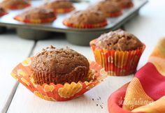 Pumpkin Nut Muffins - very little oil, but lots of pumpkin taste!
