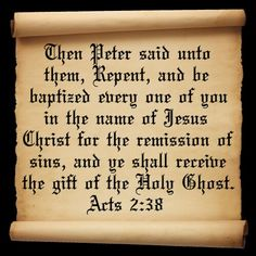 pentecostal and baptism