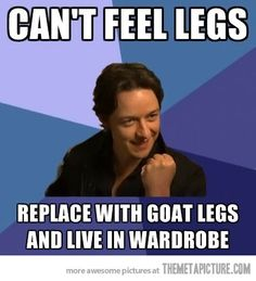 Xmen Narnia humor (I will admit I didn't realize it was the same person till I saw this meme)