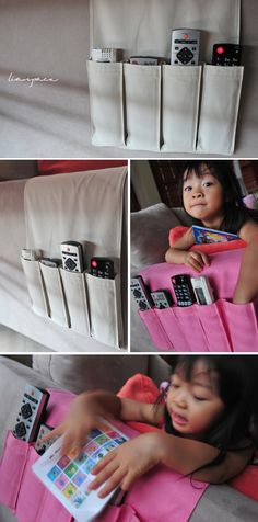 lia's crafty journey: remote control organizer