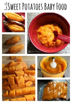 Easy directions on how to make sweet potatoes for your baby