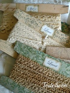 Todolwen: A New Tutorial ~ Lace Cards