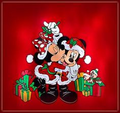 Ideas For Drawing Christmas Disney Mickey Mouse Mickey Mouse Crafts, Mickey Mouse Christmas, Mickey Mouse Cartoon, Mickey Mouse And Friends, Mickey Minnie Mouse, Mickey Mouse Wallpaper, Wallpaper Iphone Disney, Mouse Pictures, Christmas Paintings