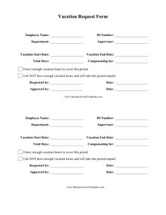 Free Time Off Request Form | Time Off Request Form Time Off Time Off Request Form Job Resume