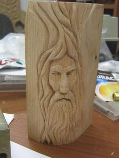 PDF Wood Spirit Carving Patterns Free Plans Free More Source by Wood Carving Faces, Wood Carving Patterns, Wood Carving Art, Wood Patterns, Wood Art, Woodworking For Dummies, Learn Woodworking, Woodworking Techniques, Woodworking Projects