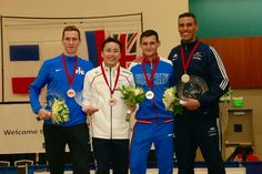 San José World Cup 2015 Podium: Gold Timur SAFIN (RUS), Silver James-Andrew DAVIS (GBR), Bronze Jeremy CADOT (FRA) and Yuki OTA (JPN) (Photo: Serge TIMACHEFF)