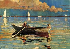 "Winslow Homer Watercolors | Winslow Homer | ""Gloucester Harbor"" 