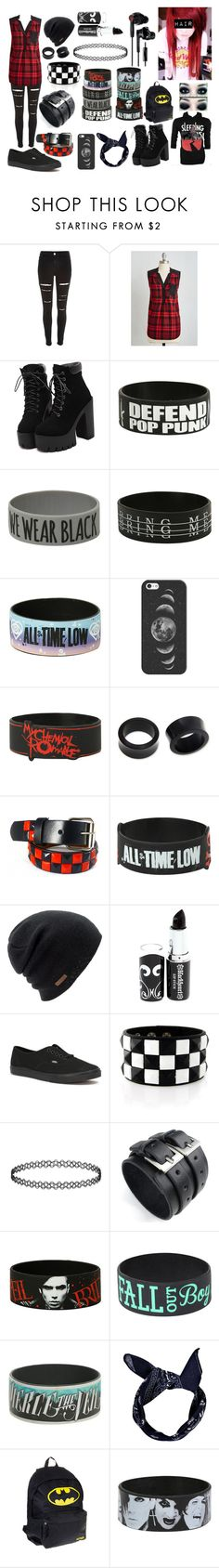 """""""Red Scene/Emo"""" by abipatterson on Polyvore featuring River Island, Coven, Casetify, NOVICA, Coal, Vans and Yurbuds"""