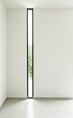Mooi smal raam, door verticale vorm extra hoogte werking