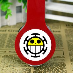 Anime One Piece Trafalgar Law logo stereo deep bass headphone earphone PC MP3 Telephone Headset New Digital Guru Shop