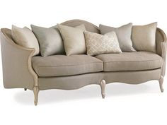 Shop this caracole upholstery grey dawn / pearlescent sofa couch from our top selling Caracole sofas. LuxeDecor is your premier online showroom for living room furniture and high-end home decor. Caracole Furniture, Sofa Furniture, Living Room Furniture, Furniture Design, Steel Furniture, Furniture Removal, Furniture Movers, Office Furniture, All Modern Furniture