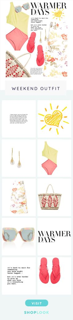 Warmer Days created on ShopLook.io featuring , , , araks, Rosie Assoulin, star mela, gucci, , , havaianas perfect for Weekend.