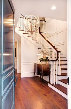 curved stair foyer paneling - Google Search