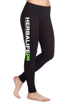 Herbalife 24 Ladies' Cotton / Spandex Legging by c3rArtsandPrints