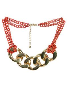 Neon Chain Link Necklace from ArdenB.com... different