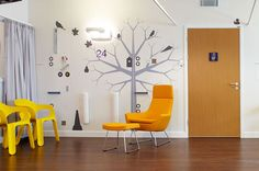 Young Person's Unit at Queen Elizabeth Hospital in Birmingham, England, interiors designed by Two Create