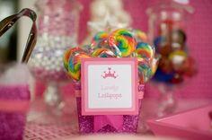 Pink Princess Food Signage (pink and white) - DIY Printable. $14.99, via Etsy.
