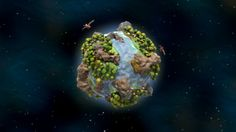 """De Planeta (latin for """"about a planet"""") is a short and stylised procedural animation that revolves around birth, life and death of a little planet, showing all the colorful wonders it has to offer by following it through the ages with a fast-paced and engaging rhythm, culminating into the triumph of modernity over nature, with all the consequences that may follow upon it..."""