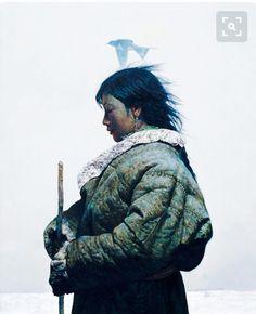 Pinga - Inuit goddess of hunting.-------Luo Zhongli – 罗中立