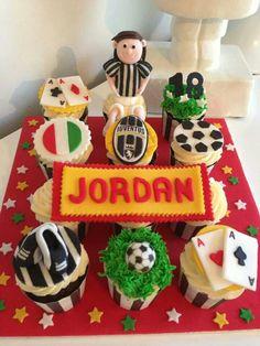 18th cupcakes, Juventus, Italian, casino & soccer theme