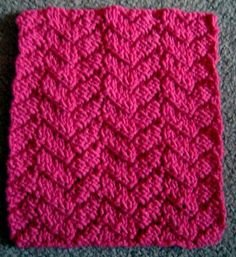 Free Mock Cable Knitting Stitch