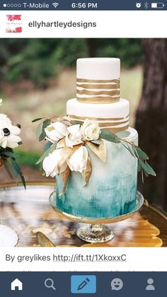Feast your eyes on this beauty! The gold details and watercolor are delightful! Image via @greylikes wedding #weddinginspiration #engaged #love #instapics #instapics #ido #weddingdecor #invitations...