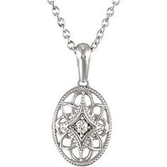 FB Jewels 925 Sterling Silver .03 CT Diamond Engravable Bar Necklace