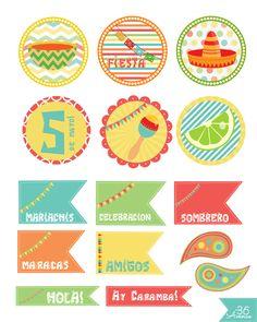 5 de Mayo Free Printable Party Kit