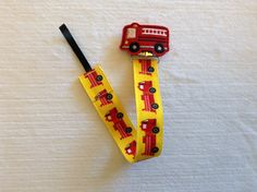 Firetruck Feltie Universal Pacifier Clip on Fire Engine Ribbon or Red Chevron Ribbon for Baby Boy or Girl - Firefighter Paci Clip