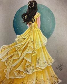 Trendy Drawing Disney Beauty And The Beast Belle Ideas Disney Princess Pictures, Disney Princess Drawings, Disney Princess Art, Disney Fan Art, Disney Drawings, Drawing Disney, Belle Drawing, Walt Disney, Disney Belle