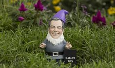 A Nigel Farage garden gnome created by DIY chain B&Q.