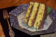 Magnolia Yellow Cake with Chocolate Buttercream